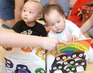 Children Reading Language Books