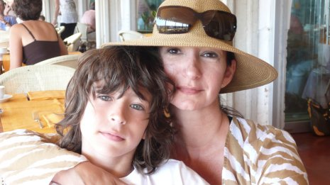 Patrizia Saraceni Corman and Son