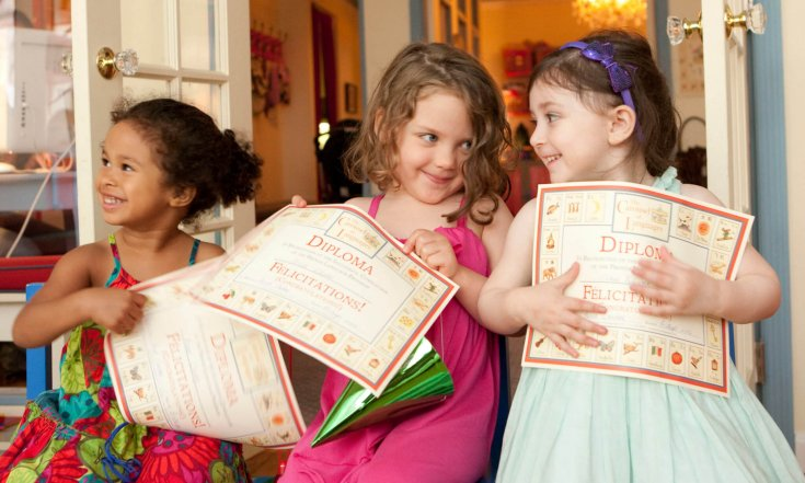 Kids Graduating International Language Course